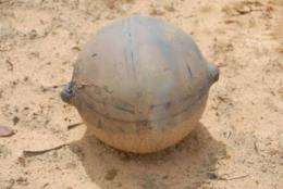 The hollow ball has a 1.1-metre (14-inch) diameter and weighs 6 kg (13 pounds)