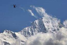The Jungfrau mountain near Lauterbrunnen in Switzerland's Bernese Oberland region,