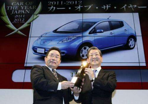 """The Nissan Leaf is the first electric car to win """"Car of the Year Japan"""" at the Tokyo Motor Show"""