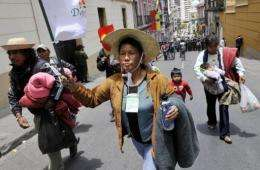 Thousands of Bolivian natives have protested against the plan