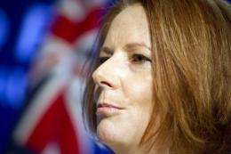"""""""Today Australia has a price on carbon as the law of our land,"""" Prime Minister Julia Gillard said on Tuesday"""