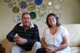 'Torquay Tutankhamun' Alan Billis with his wife Janet in August last year