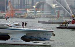 Turanor PlanetSolar, the first solar-powered boat to travel around the world, arrives in Hong Kong today