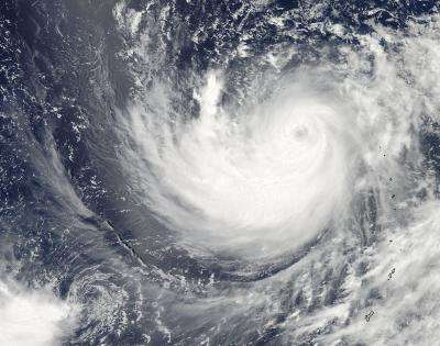 Typhoon Ma-on's eye seen in NASA satellite Images