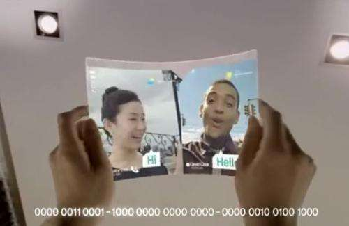 Samsung tablet concept shows a see-through, bendable future (w/ video)