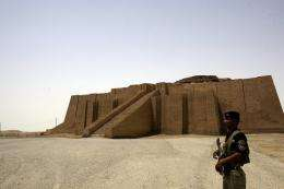 Ur lies on the outskirts of the modern city of Nasiriyah about 300 kilometres south of Baghdad