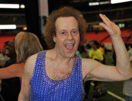 US fitness guru Richard Simmons, who has featured in an Air New Zealand in-flight safety video