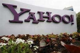 Yahoo 1Q results top analyst views; stock climbs (AP)