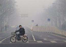 Beijing releases pollution data; US figures higher (AP)