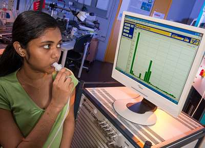 Breathalyzer for diagnosis of lung diseases