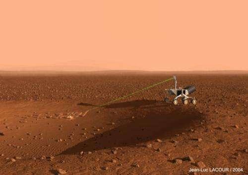Curiosity's laser leaves its mark