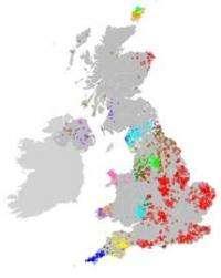 Genetic map of Britain goes on display