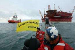 In Arctic, Greenpeace picks new fight with old foe