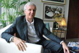 James Cameron visits the National Geographic headquarters