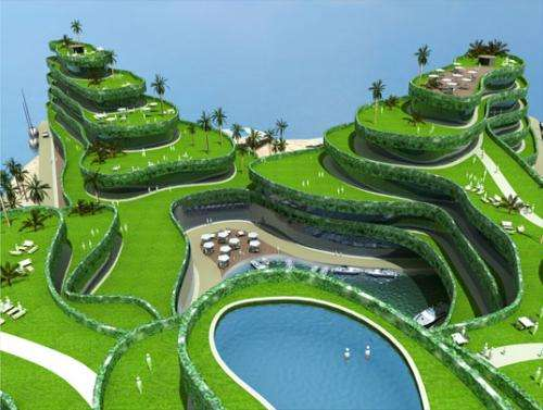 Maldives floating island masterplan tests the waters