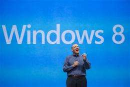 Microsoft reports first loss as public company