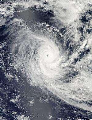 NASA gets eyeballed from Cyclone Claudia