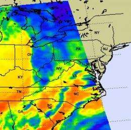 NASA provides satellite views of Maryland's severe weather outbreak