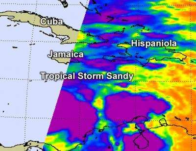 NASA's hot tower research confirmed again with Tropical Storm Sandy