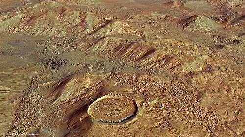Nereidum Montes helps unlock Mars' glacial past