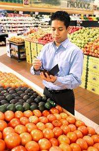 Nutrient data available via phone apps, websites