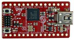 NXP ships LPC11U30 USB microcontrollers with 128 KB flash