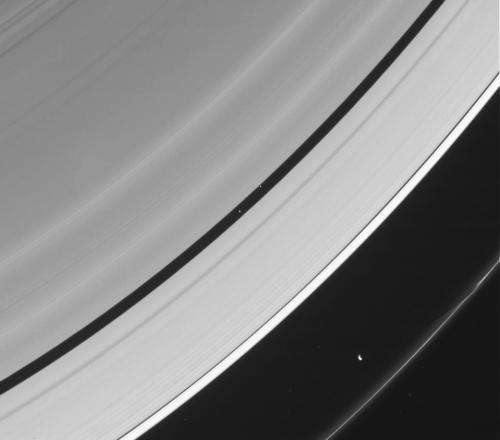Saturn shows off its shadow