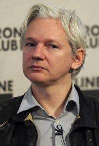 WikiLeaks founder Julian Assange speaks during a press conference in central London