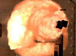 With a bang, Navy begins tests on EM railgun prototype launcher