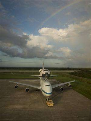 Space shuttle Endeavour stuck at home in Florida