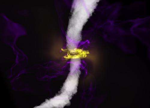 Magnetism combines with gravity to shape black hole's environment