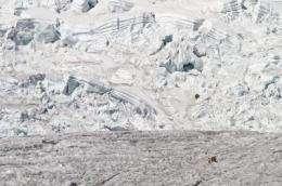 Melting glaciers raise sea level
