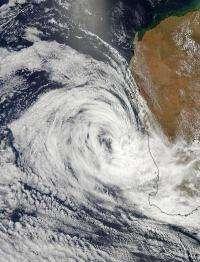 NASA satellites see wind shear battering Tropical Depression Iggy