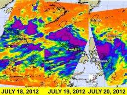 NASA satellite sees western north Pacific Tropical Cyclone strengthening