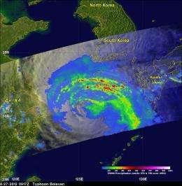 NASA sees Tropical Storm Bolaven making landfall in North Korea
