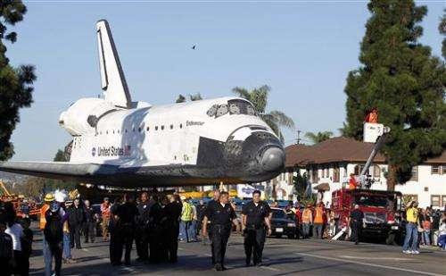 Endeavour finally reaches permanent LA museum home