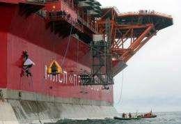 Greenpeace activists board Gazprom's 'Prirazlomnaya' Arctic oil platform somewhere off Russia north-eastern coast