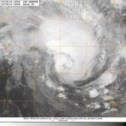 NASA satellite sees cyclone Jasmine heading for Vanuatu, New Caledonia
