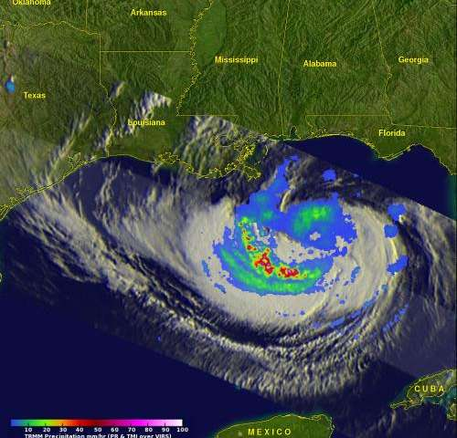 NASA sees Hurricane Isaac affecting the Northern Gulf Coast