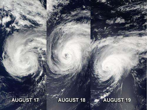 NASA satellites capture 3 days of Hurricane Gordon's Atlantic track
