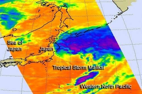 NASA sees Tropical Storm Maliksi put final touches on Japan