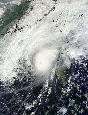 NASA satellites see Typhoon Bopha fizzle over weekend