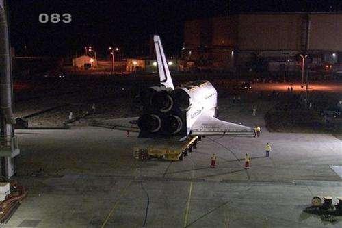 Final 10-mile trek for space shuttle Atlantis