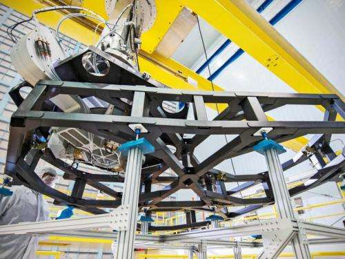 Webb telescope's 'worm holes' in the clean room