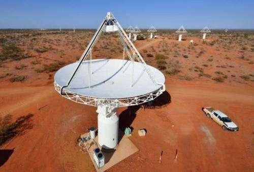 A colossal radio telescope in the Western Australia desert