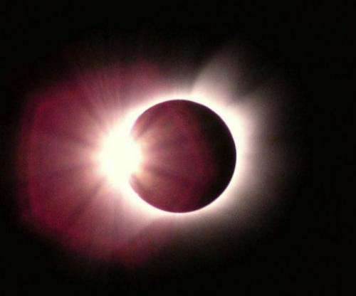 A diamond-ring shaped solar eclipse is pictured in 2003