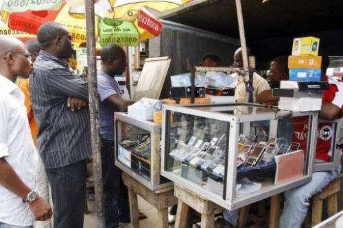 A handset dealer in Lagos