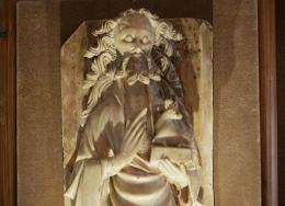 An alabaster sculpture of John the Baptist is pictured in France