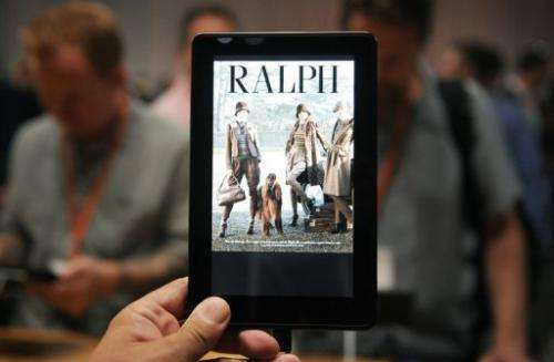 Android rivals include Amazon's popular Kindle Fire