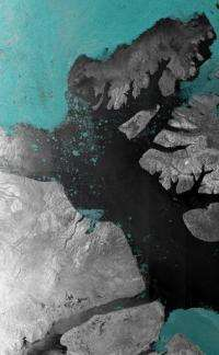 A photo released in 2007 by the European Space Agency  shows an image of the McClure Strait in the Canadian Arctic